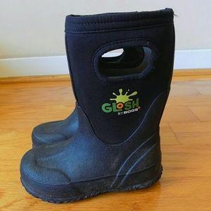 BOGS RAIN WINTER BOOTS BLACK SIZE 9
